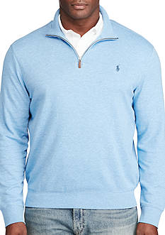 Polo Ralph Lauren Big & Tall Cotton-Blend Jersey Pullover