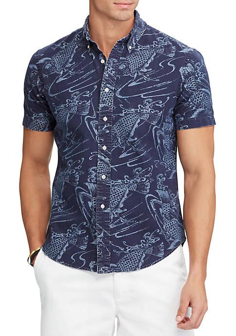 Big & Tall Classic Fit Indigo Cotton Shirt