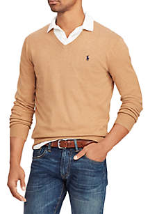 Big & Tall Cotton V-Neck Sweater