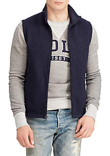 Big & Tall Fleece Mockneck Vest