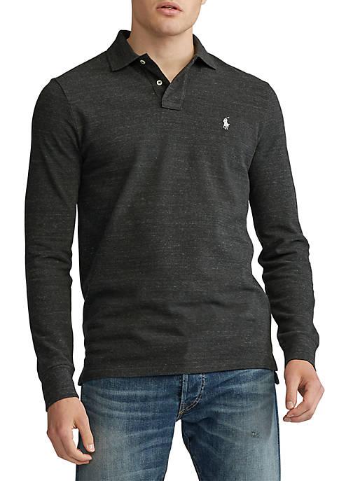 Big & Tall Classic Fit Long Sleeve Polo Shirt