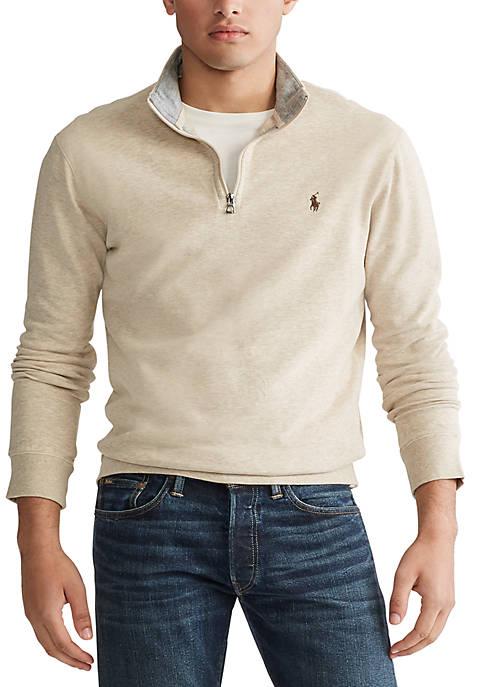 Big & Tall Interlock Cotton-Blend Pullover