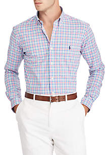 Big & Tall Classic Fit Plaid Cotton Shirt