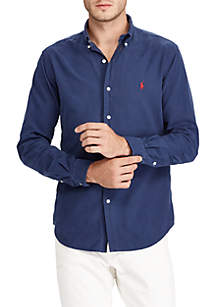 Garment Dyed Solid Oxford Shirt