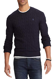 Big & Tall Cable-Knit Cotton Sweater