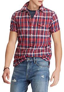 Big & Tall Classic Fit Madras Sport Shirt