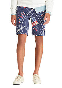 Big & Tall Classic Fit Flag Cotton Short