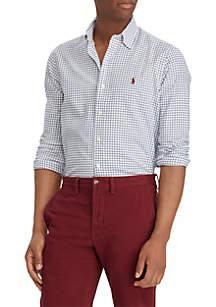 Big & Tall Classic Fit Plaid Twill Shirt