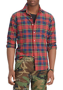 Big & Tall Classic Fit Plaid Oxford Shirt
