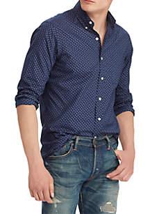 Big & Tall Classic Fit Print Poplin Shirt