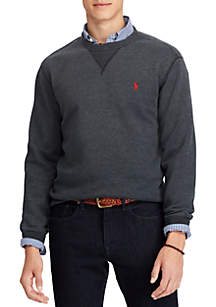 Big & Tall Cotton-Blend-Fleece Sweatshirt