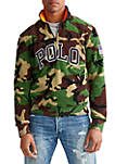 Big & Tall Polo Camo Half Zip Sweatshirt
