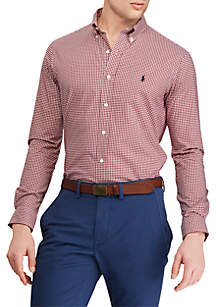 Big and Tall Classic Fit Gingham Shirt