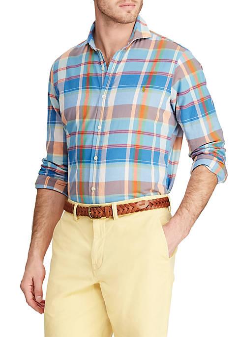 Big & Tall Classic Fit Madras Shirt