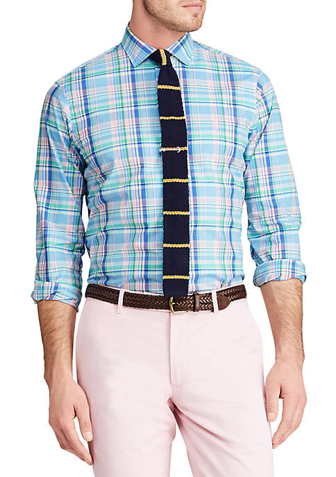 Big & Tall Classic Fit Plaid Poplin Shirt
