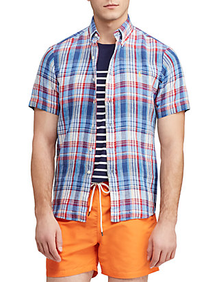 be1be91f Polo Ralph Lauren Big & Tall Classic Fit Plaid Linen Shirt
