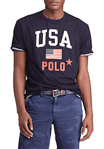 Polo Ralph Lauren Big & Tall Classic Fit Jersey Graphic Tee