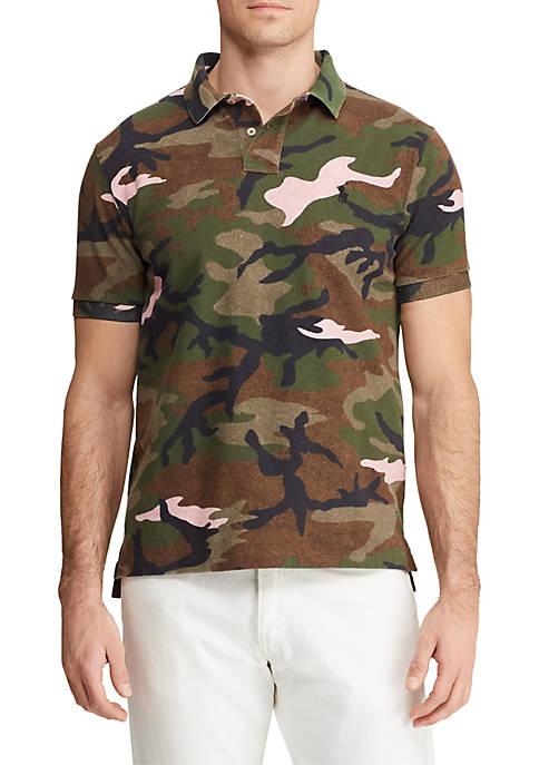 Big & Tall Classic Fit Camo Mesh Polo Shirt