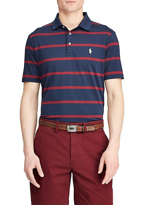Big & Tall Classic Fit Striped Performance Polo Shirt