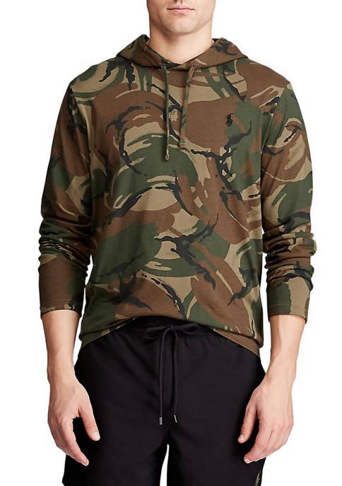 Big & Tall Camo Jersey Hooded T-Shirt