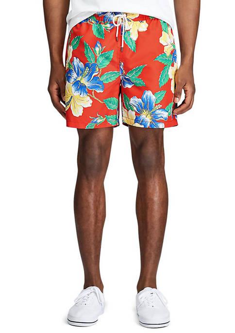 Big & Tall Floral Traveler Swim Trunks