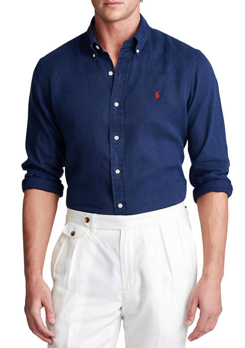 Big & Tall Classic Fit Linen Shirt