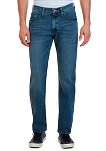 Relaxed Fit Medium Wash Jean