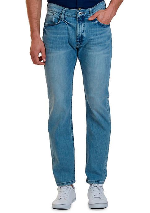 Straight Fit Light Wash Jean