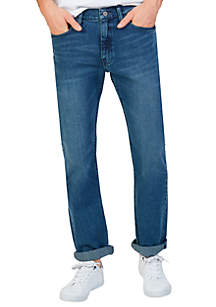 Straight Fit Medium Wash Jeans