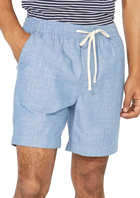 Nautica 7 Inch Classic Fit Chambray Boardwalk Shorts