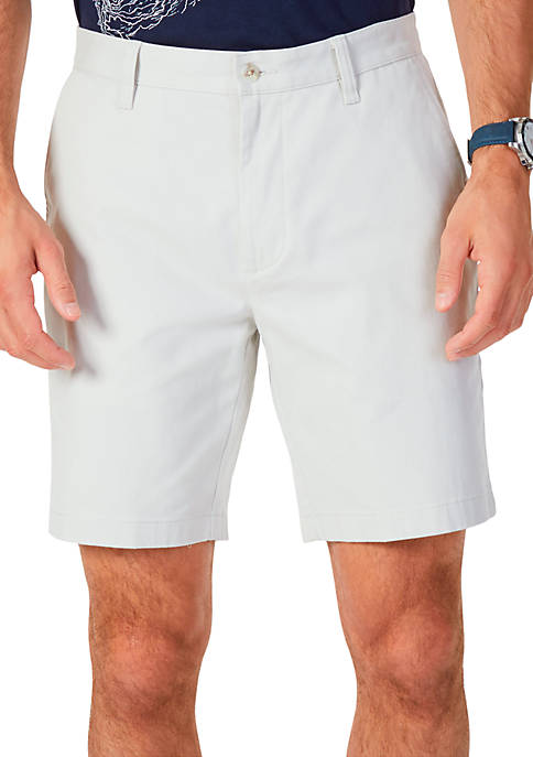 Nautica 8.5 in Flat Front Deck Shorts