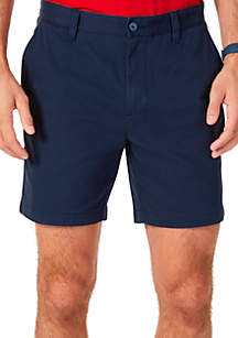 Nautica 6.5 in Flat Front Deck Shorts