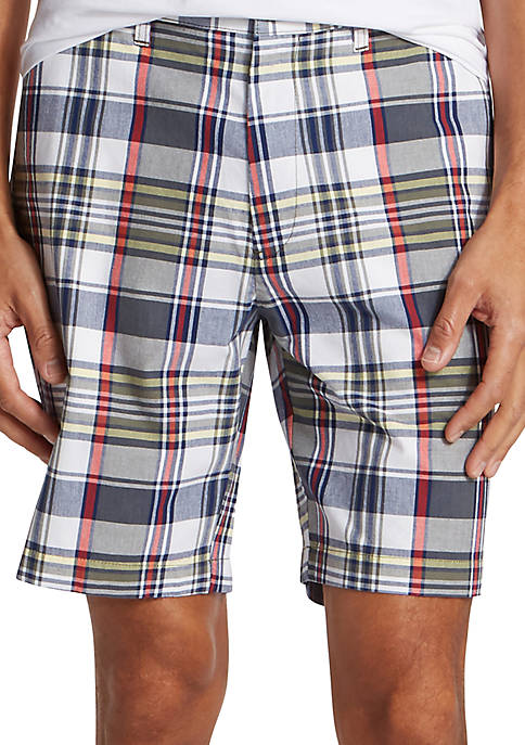 8.5 in Plaid Classic Fit Shorts