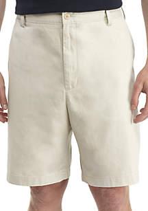 Big & Tall Flat Front Chino Shorts