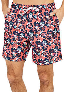 Big & Tall Quick Dry Floral Swim Trunk