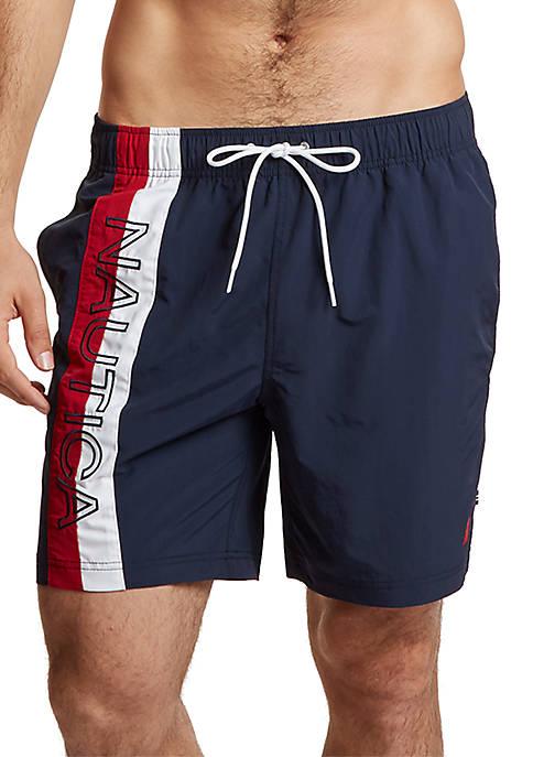 Big & Tall Surfwashed Colorblock Swim Shorts