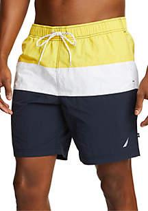Nautica Big & Tall Colorblock Swim Shorts
