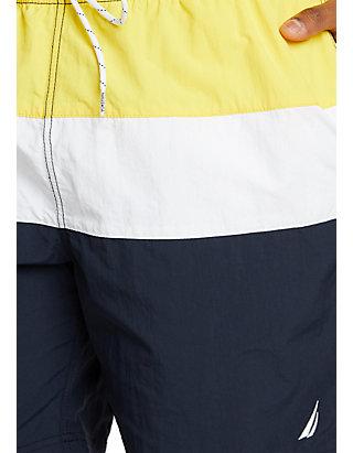 61a5f803960fd8 ... Nautica Big & Tall Colorblock Swim Shorts ...