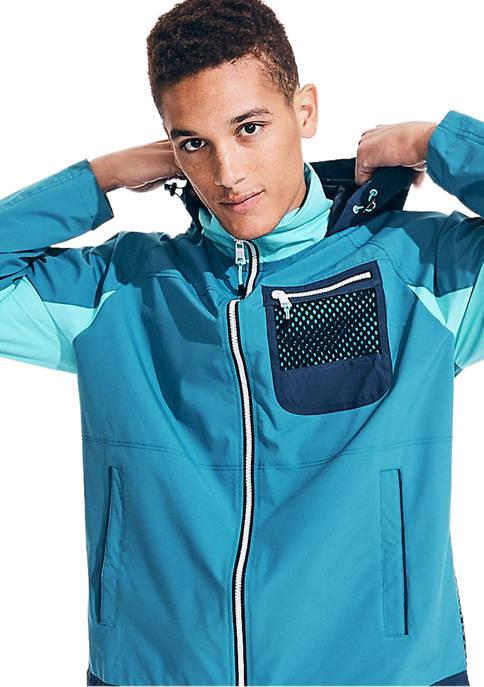 Nautica Lightweight Color Block Hooded Jacket