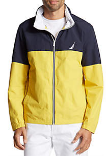 Nautica Lightweight Full-Zip Colorblock Bomber Jacket