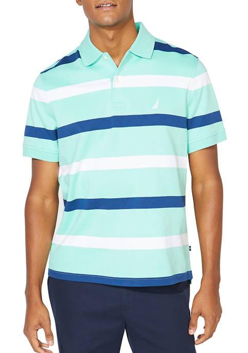 Nautica Classic Fit Striped Interlock Polo Shirt