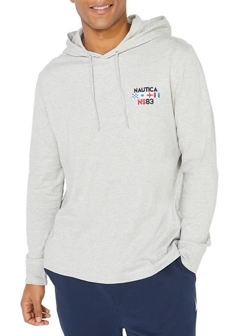 Nautica Long Sleeve T-Shirt Hoodie