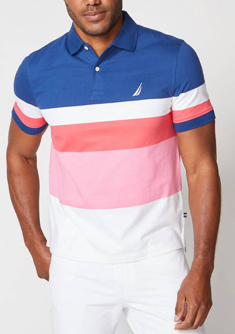 Classic Fit Colorblock Jersey Polo Shirt