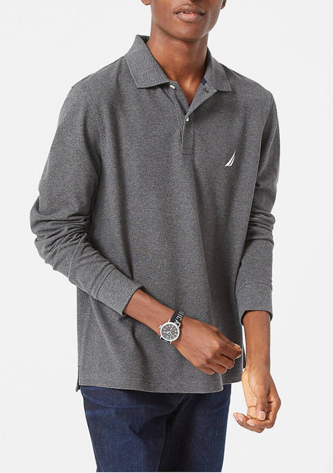 Classic-Fit Long Sleeve Polo