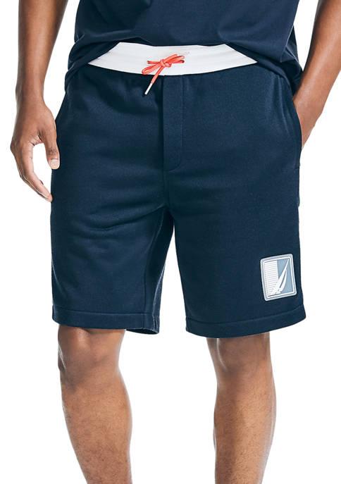 Nautica 9-Inch Side Panel Knit Shorts
