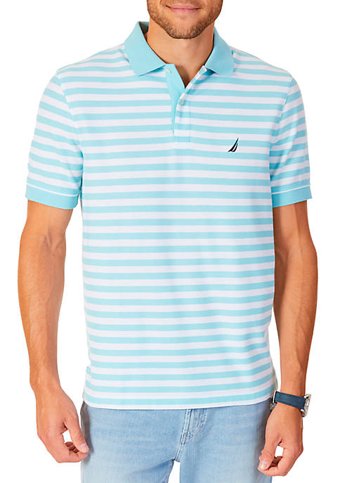 Nautica Classic Fit Striped Performance Polo Shirt