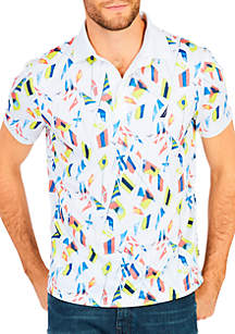 Allover Print Short Sleeve Shirt