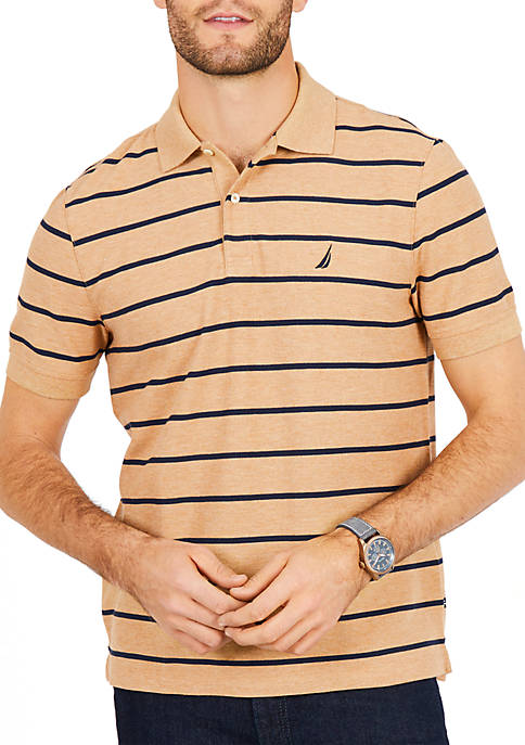 Nautica Classic Fit Performance Striped Polo Shirt