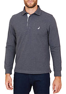 Classic Fit Long Sleeve Navtech Solid Pique Polo