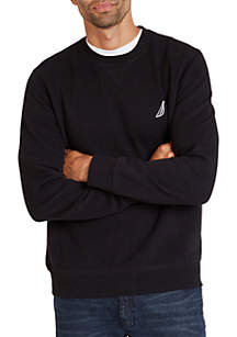 Long Sleeve Fleece Crew Neck Pullover